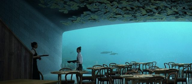 Fancy dining on seabed 5m below water surface?