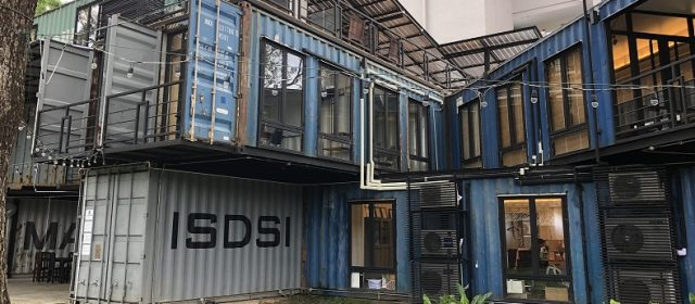 Thai university campus built entirely out of shipping containers